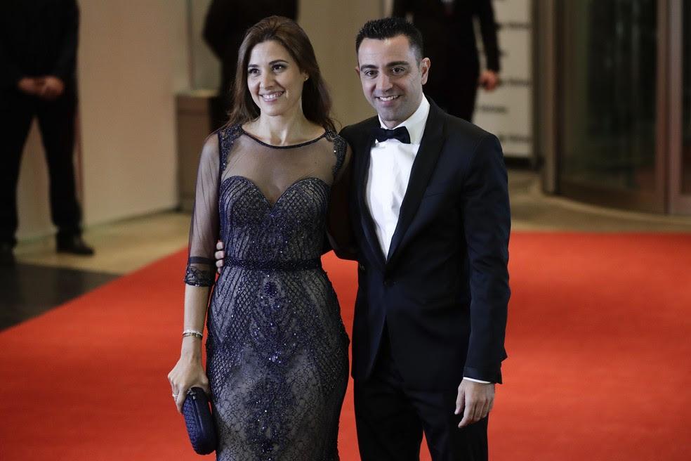 Xavi no casamento de Messi (Foto: The Associated Press)