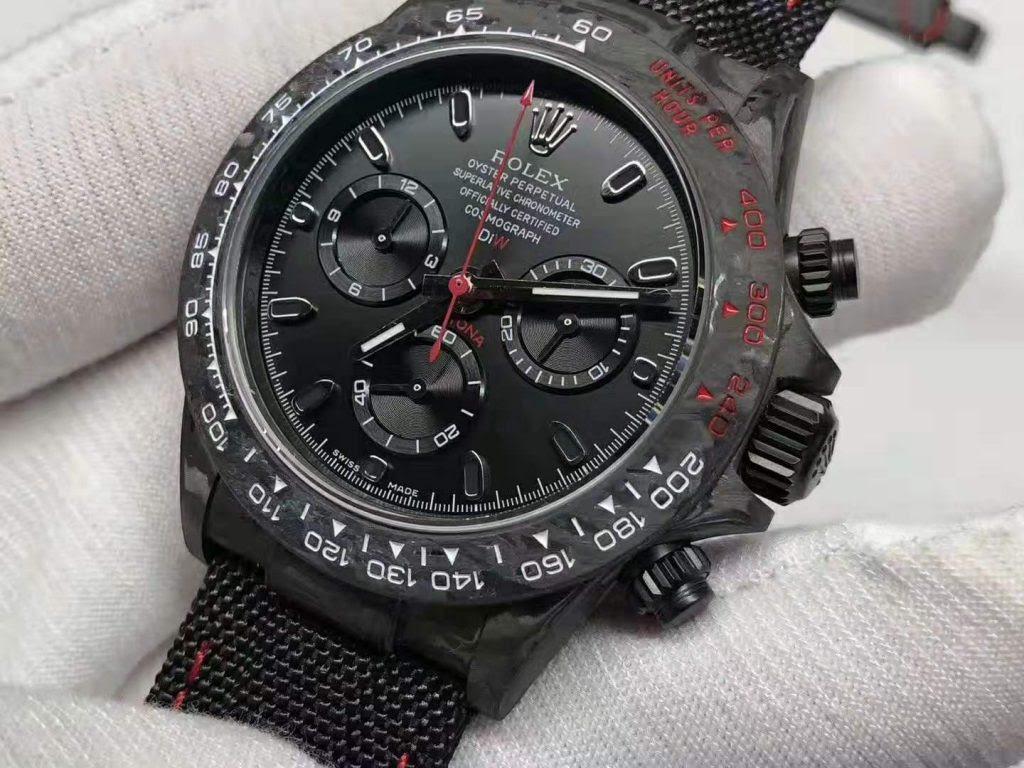 WWF Replica Rolex Daytona Carbon Watch