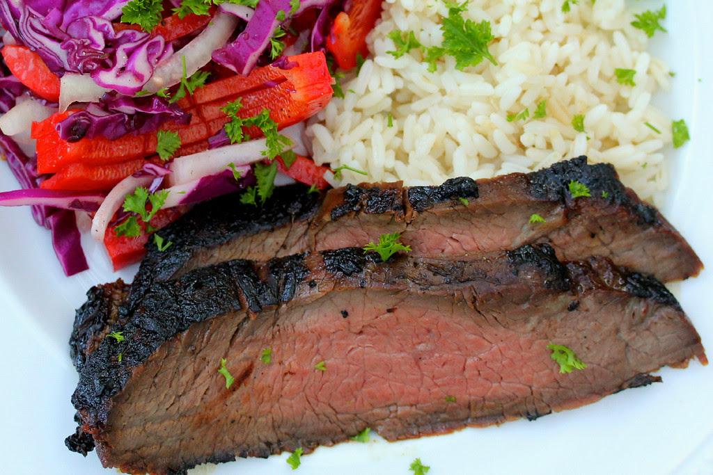 Korean Style Barbecued Flank Steak
