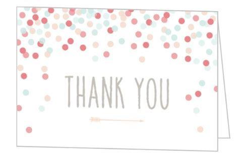 Cute Confetti Bridal Shower Thank You Card   Wedding Thank