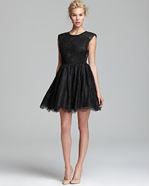 Alice and Olivia Shelly Leather Detail Dress