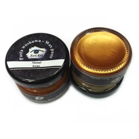 Pasta woskowa SeeArt 20 ml. metal brąz