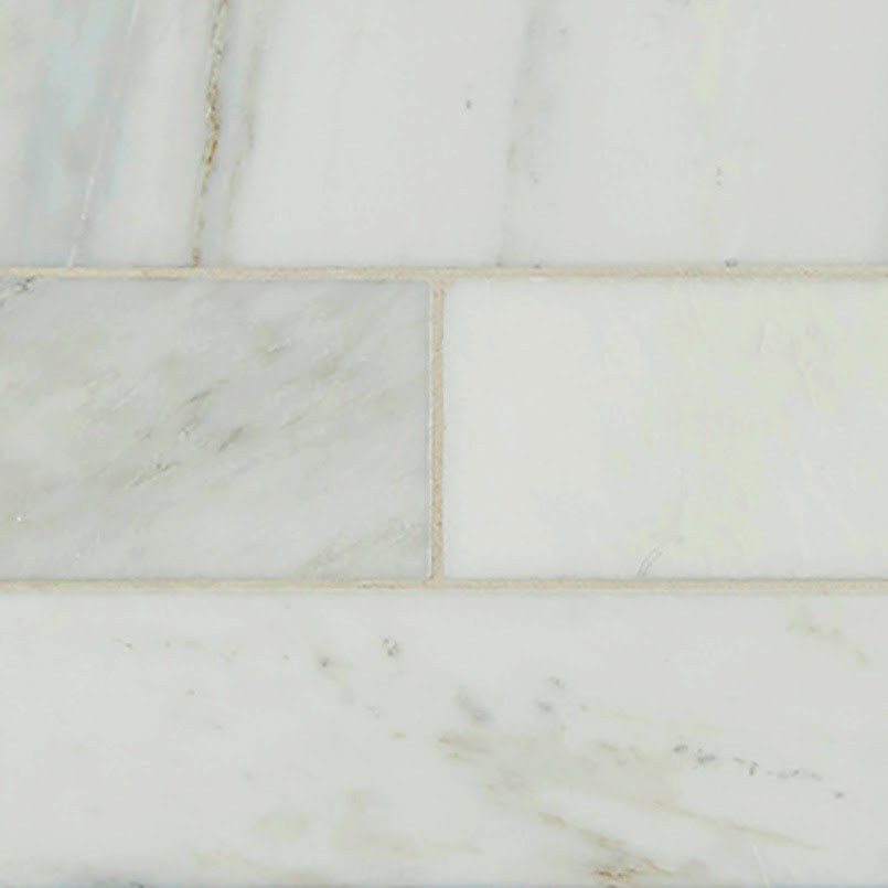 Arabescato Carrara Subway Tile 4x12 75 Cabinets