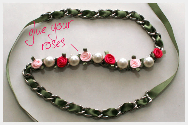 How to Make a Ribbon Chain Bracelet