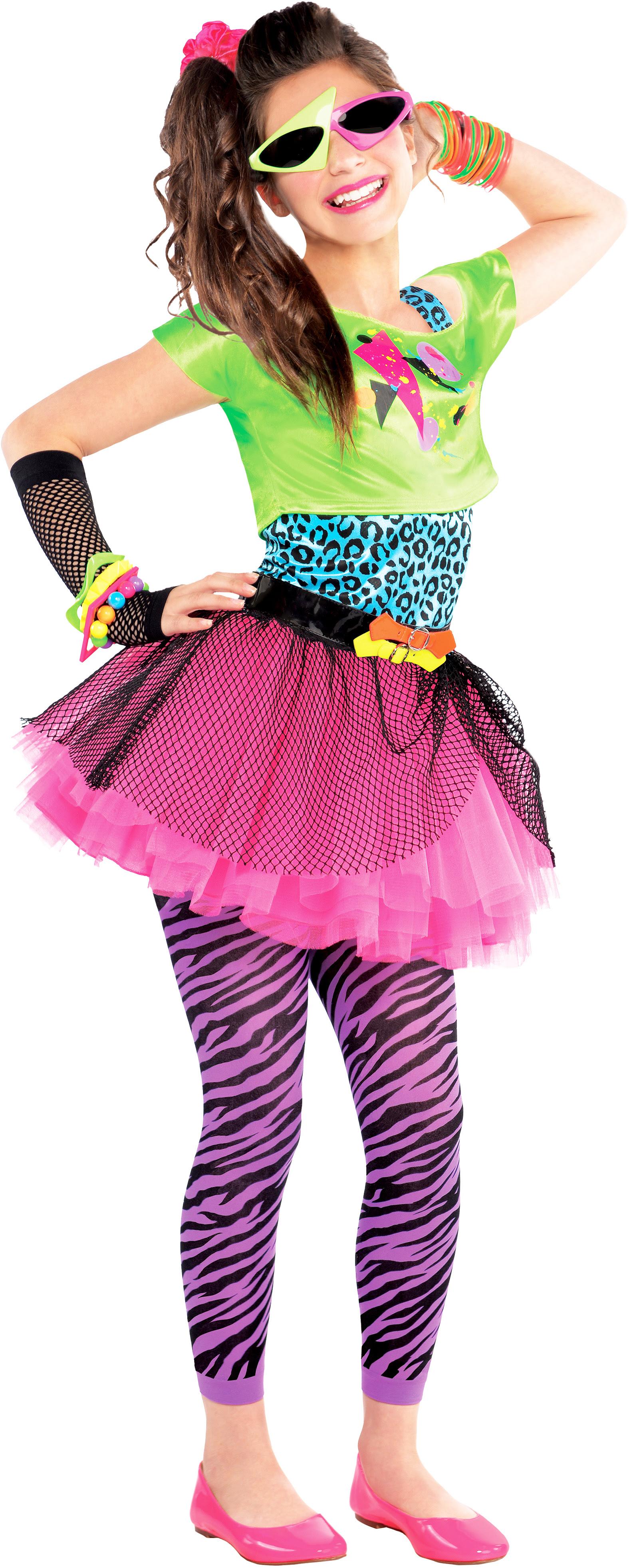 80s party girls fancy dress celebrity 1980s singer kids