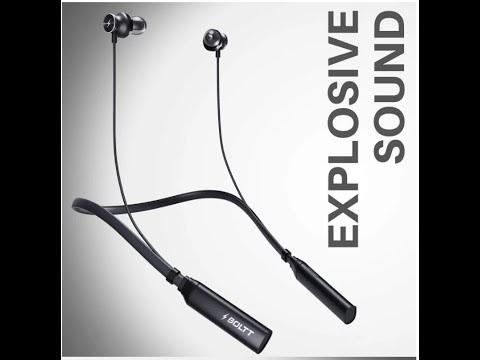 Boult black wireless Bluetooth earphones review