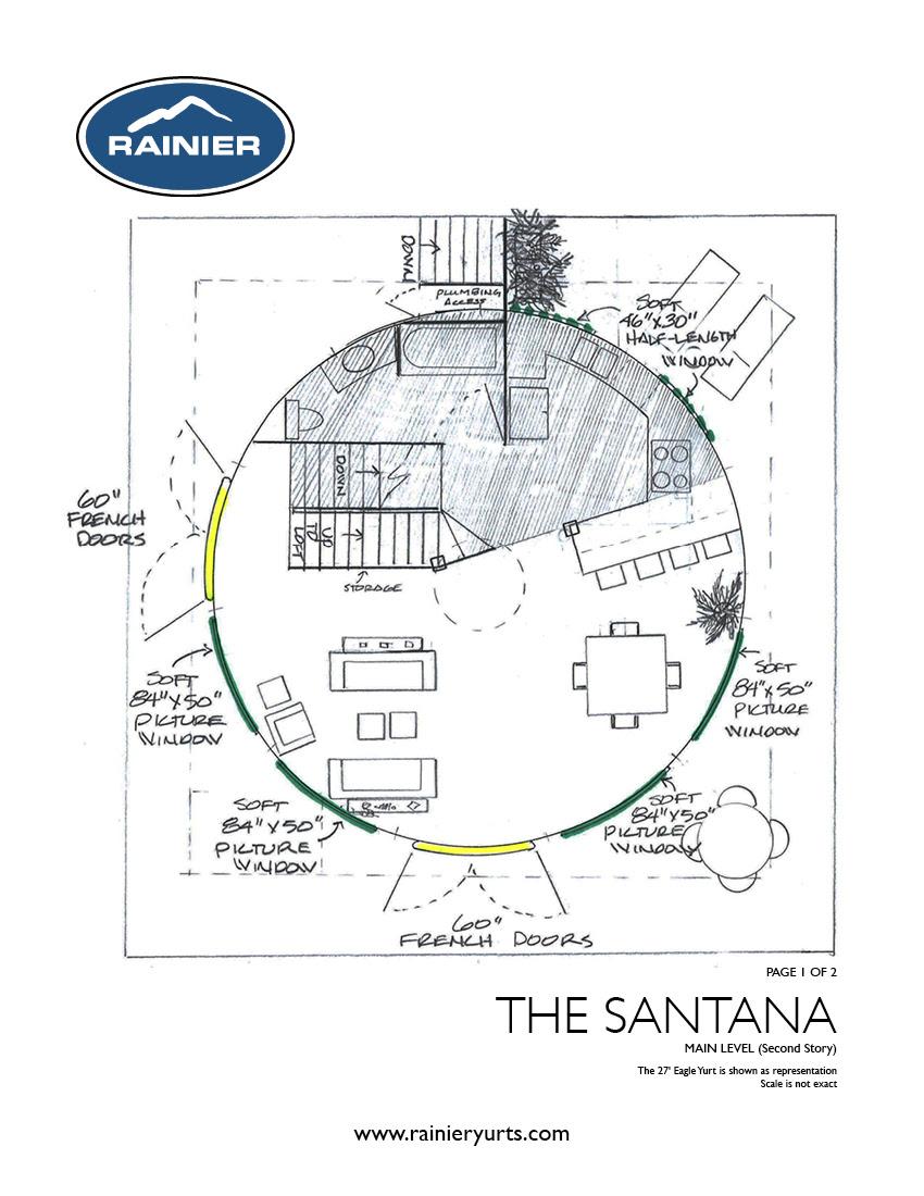 Yurt Floor Plans - Rainier Yurts