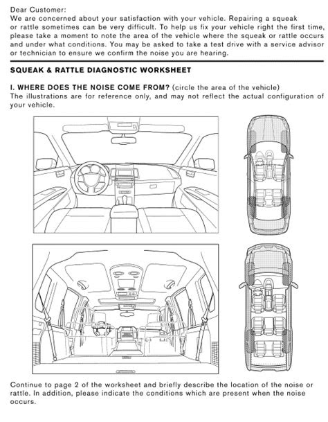 Nissan Rogue Service Manual: Squeak and rattle trouble
