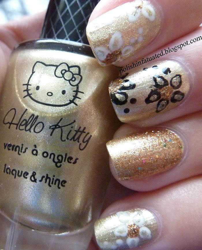 gold nail art2