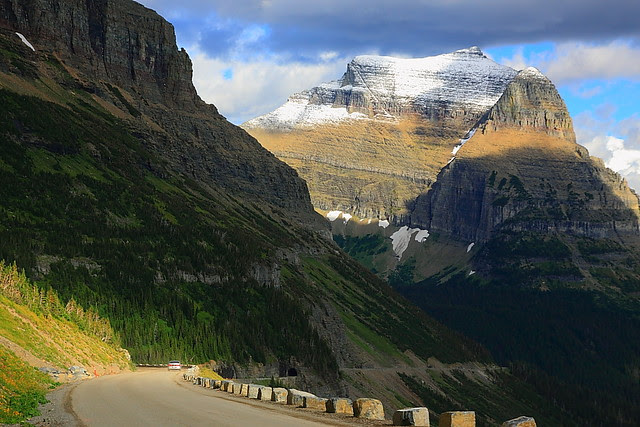 IMG_9014 Going-to-the-Sun Road under Going-to-the-Sun Mountain, Glacier National Park