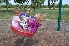 Lindsey and friends on the swing...ahhhh....
