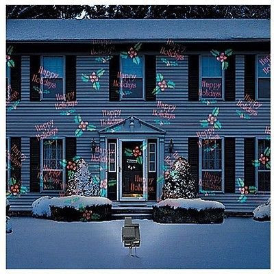 Christmas Outdoor Motion Light Projector Snow Holiday House Decoration At The Sd Of Order Your Elf Laser Show