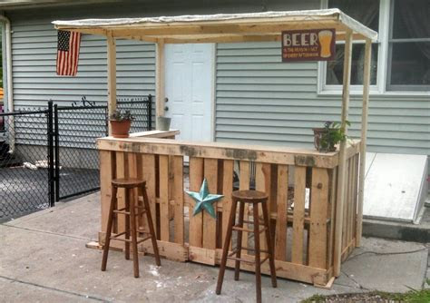 backyard bar   pallets pallet bar diy