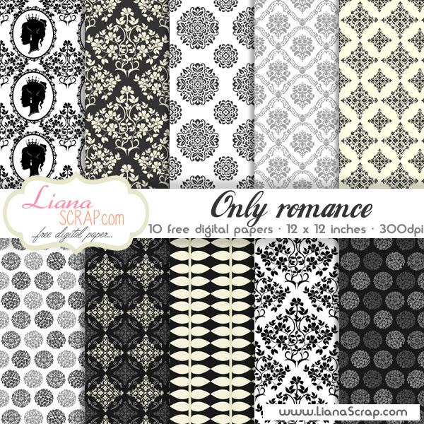 Free digital paper pack – Only Romance Set