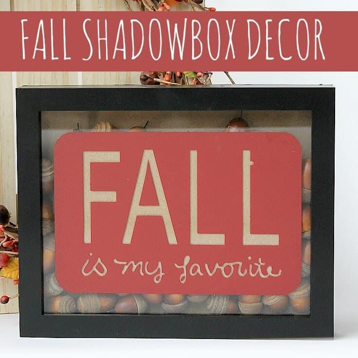Use acorns to decorate for fall with this easy Fall Shadowbox!