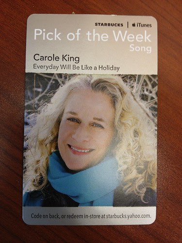 Starbucks iTunes Pick of the Week - Carole King - Everyday Will Be Like a Holiday