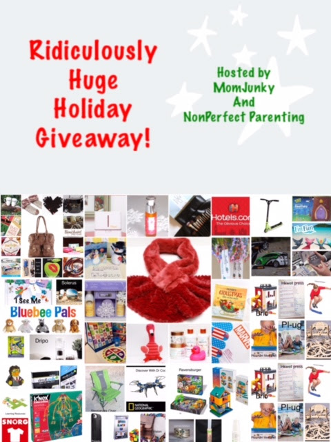 Enter the Ridiculously Huge Holiday Giveaway. Ends 1/10/17
