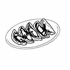 餃子シルエット イラストの無料ダウンロードサイトシルエットac