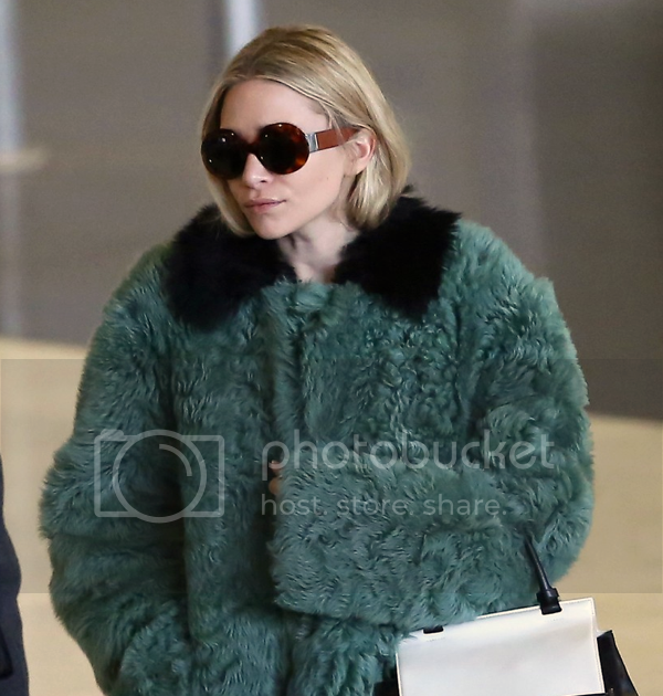 Ashley Fur: Olsens Anonymous: ASHLEY: GREEN FUR COAT
