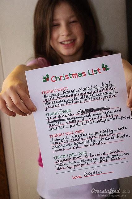 Sophia's Christmas List