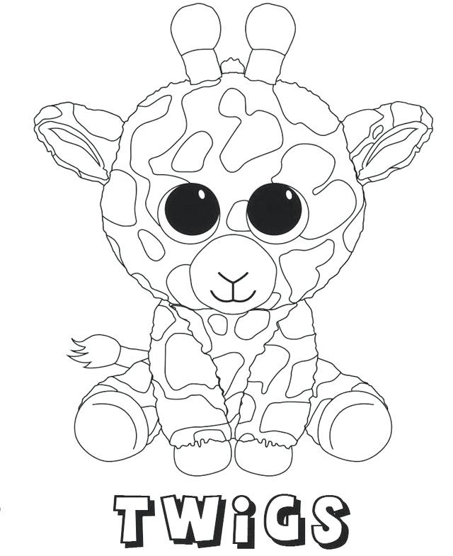 Beautiful Dragon Beanie Boo Coloring Pages Sugar And Spice