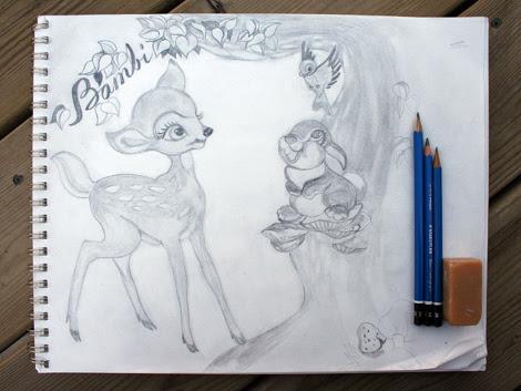 sketched bambi.