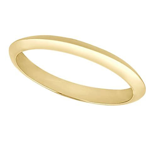 Women's Knife Edge Wedding Ring Band 14k Yellow Gold (2.7
