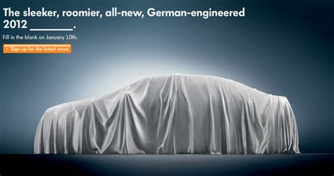 volkswagen reveals teaser   midsized sedan