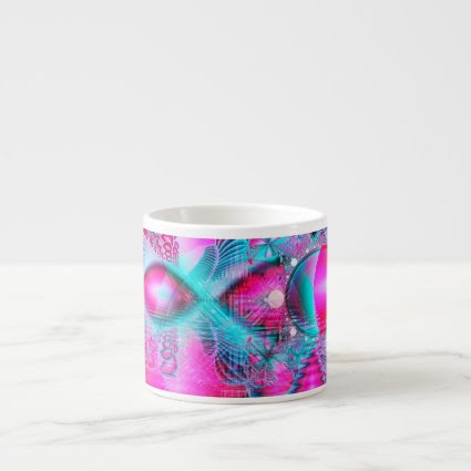 Ruby Red Crystal Palace, Abstract Jewels Espresso Cup