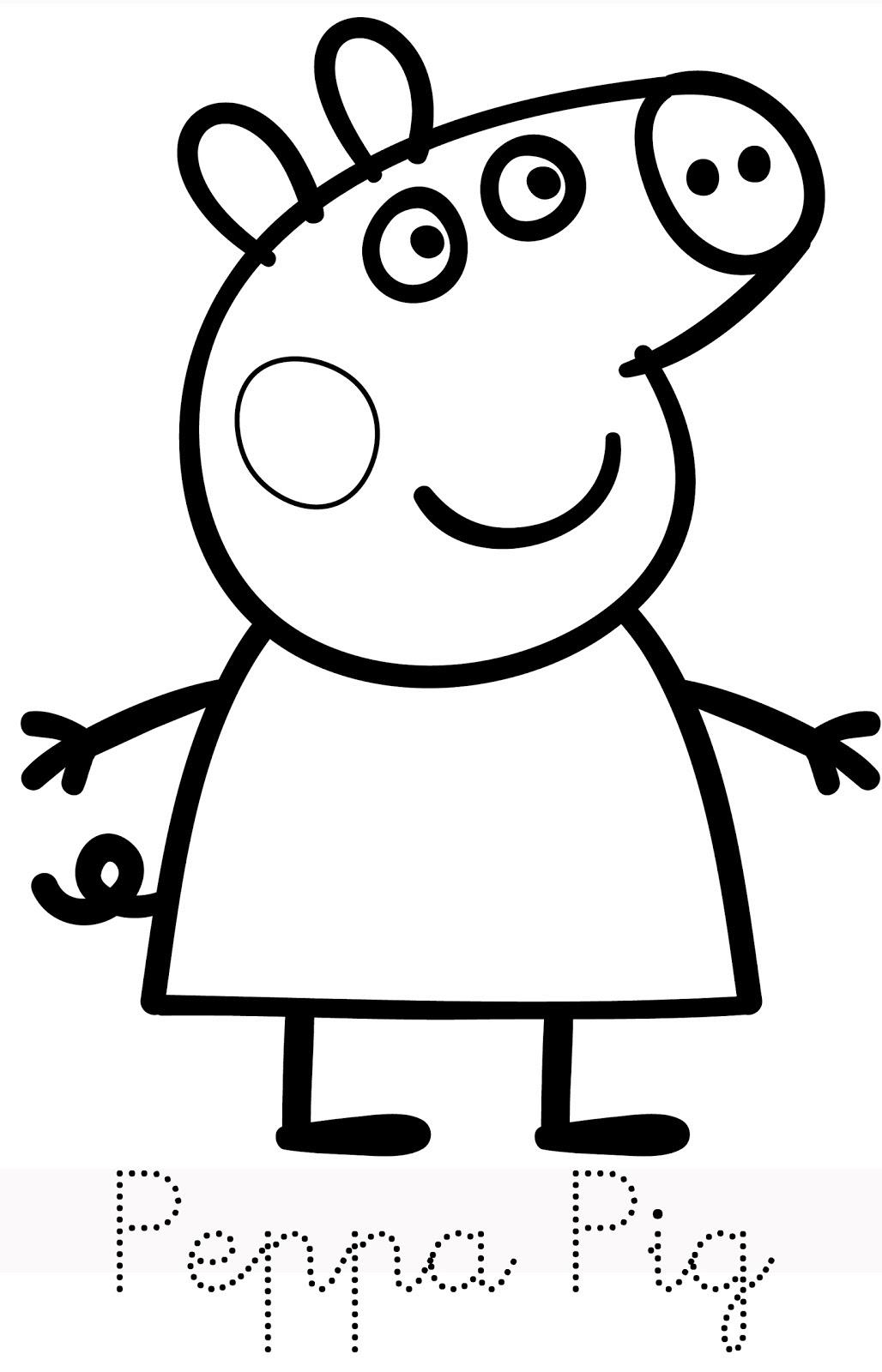 Peppa Pig George Coloring Pages At Getcoloringscom Free Printable