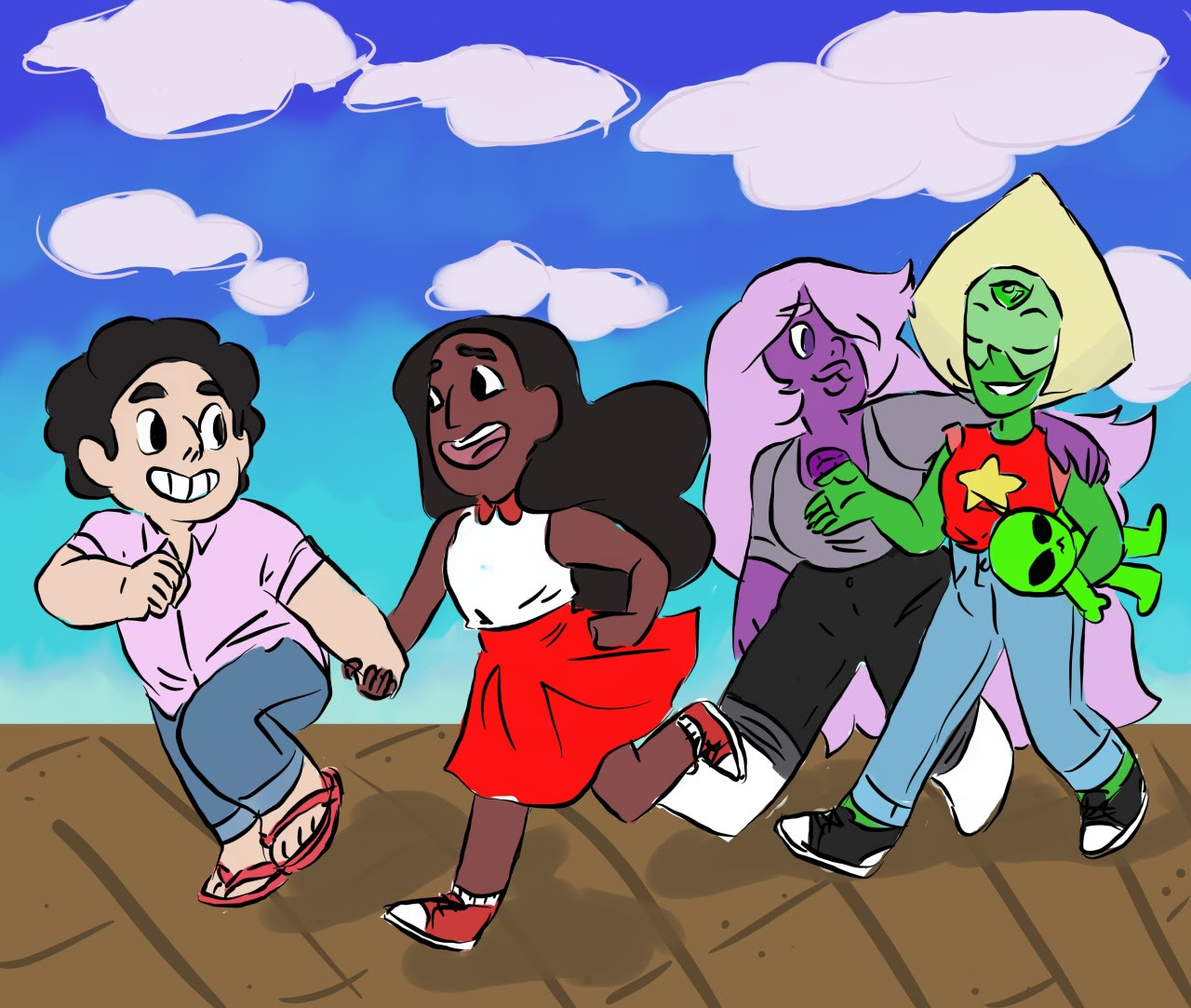 amedotbomb Day 4: double date this is my first time drawing Steven and Connie