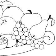 Malowanka Półmisek Z Owocami Do Druku Apaczowe Malowanki