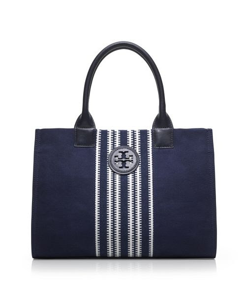 Small Center Stripe Ella Tote | Womens Totes | ToryBurch.com