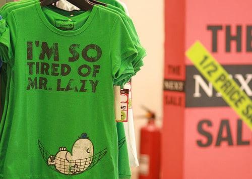 mr lazy t shirt