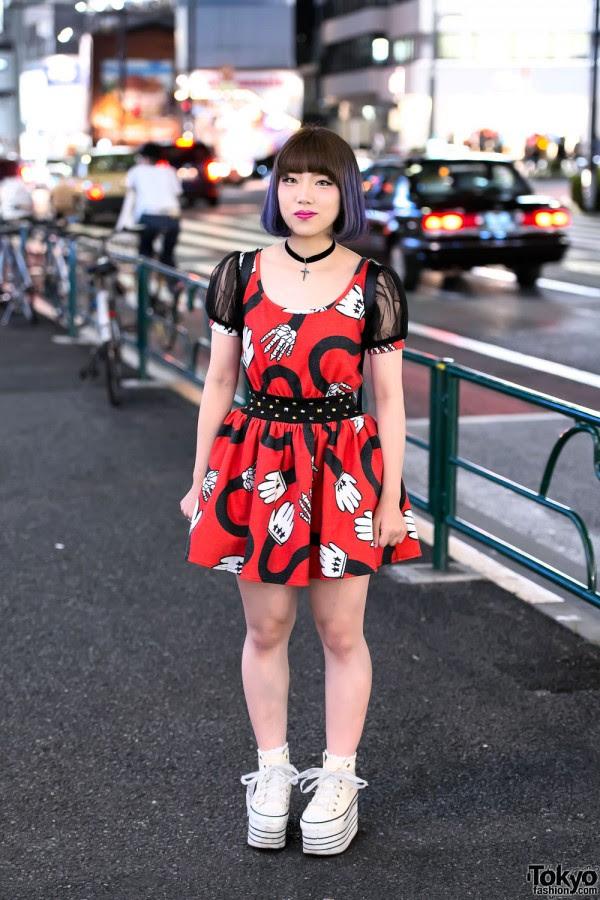 Glad News Mouse Dress in Harajuku
