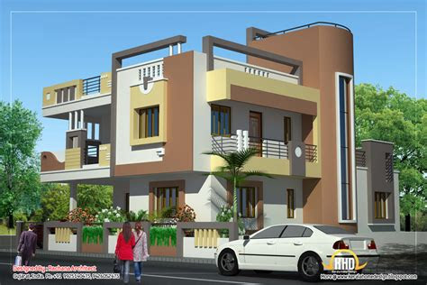 duplex house plan  elevation  sq ft kerala