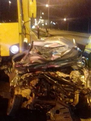Homem morre ao dirigir na contramão e bater em caminhão na Fernão Dias  (Foto: Divulgação/ PRF)