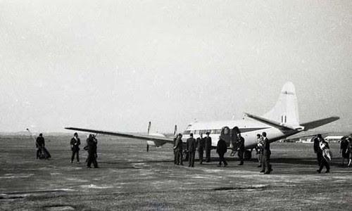 Duke of Edinburgh about to board Rhoose 1962