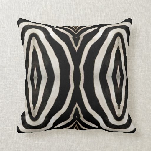 Photograph of a real Zebra's Fur Pillows from Zazzle.