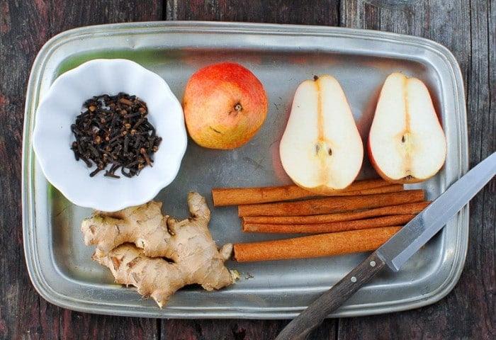 DIY Homemade Spiced Pear Vodka Ingredients - BoulderLocavore.com