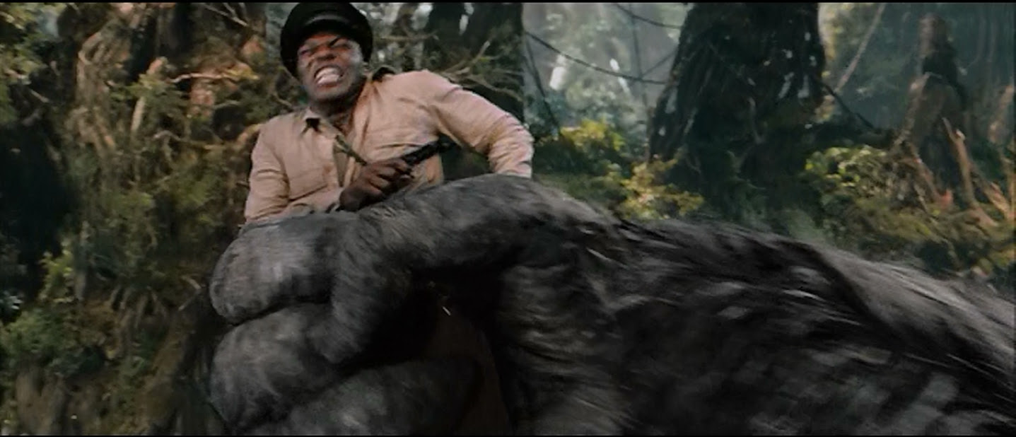 Of course, he also stood in Kong's way and shot him.