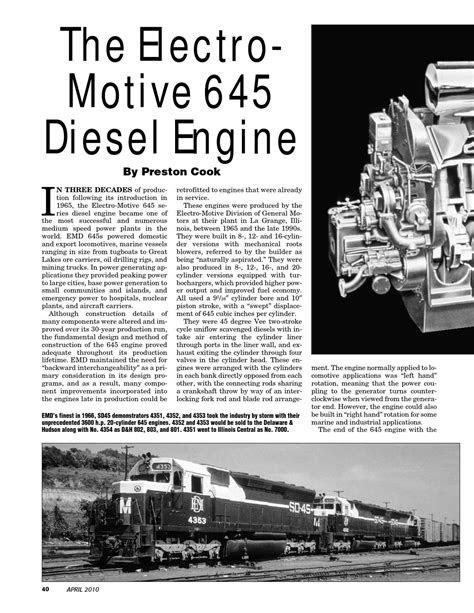 Electro Motive 645 Diesel Engine by Philip Hom - Issuu