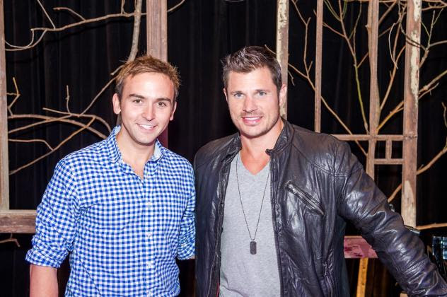 94.7 Fresh FM radio host Tommy McFLY and recording artist Nick Lachey (Photo: Rich Kessler).