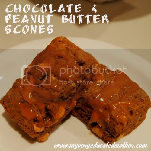 www.myveryeducatedmother.com #Chocolate and #Peanutbutter #Scones
