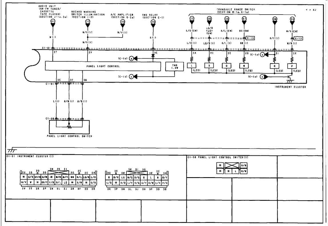 I need the wiring diagram for a 2002 MAZDA MILLENIA ...