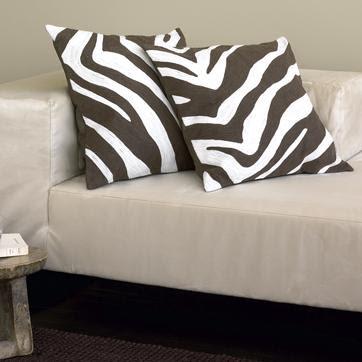 zebra pillow cover | west elm