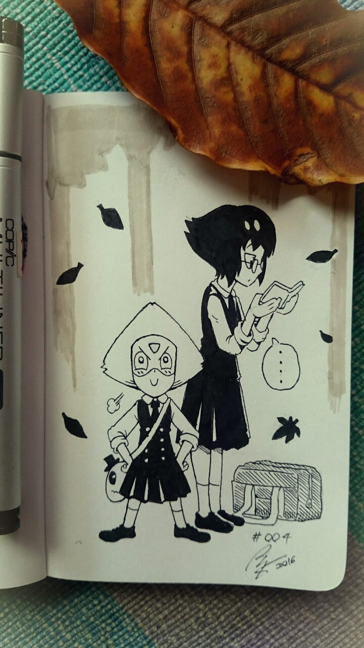 It's fall after all. A scene of Peri and Lapis in JK uniform would be nice.