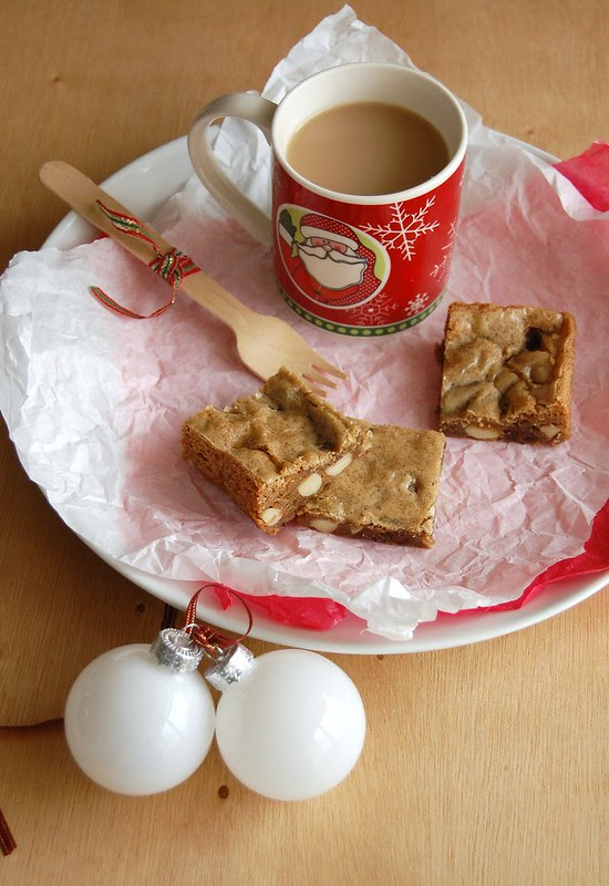 Chewy speculaas blondies / Blondies de speculaas