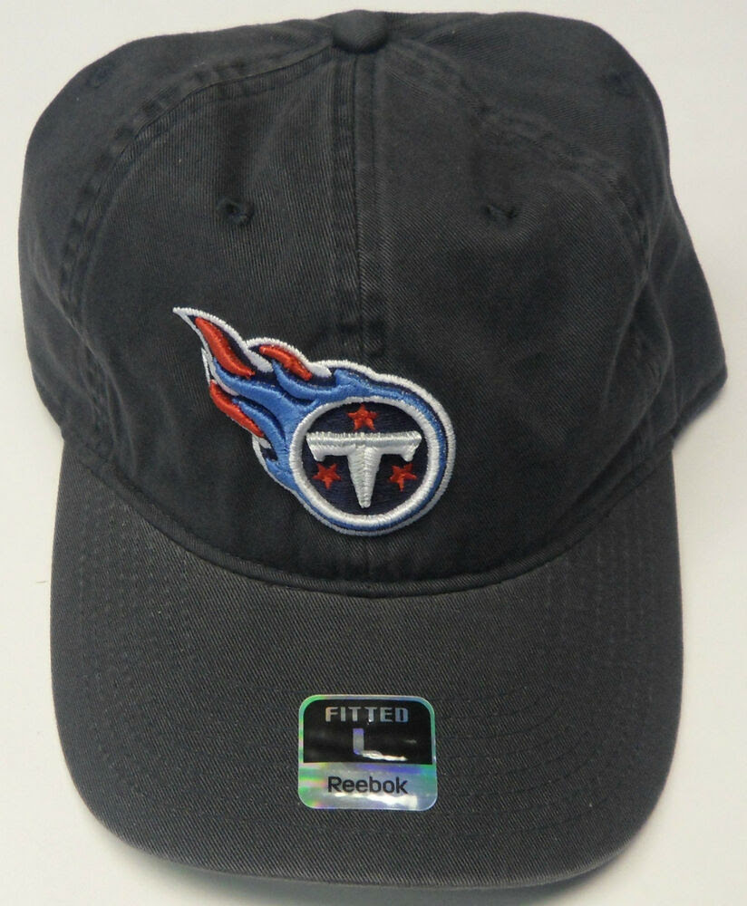 NFL Tennessee Titans Reebok Basic Logo Fitted Slouch Cap Hat NEW!  eBay
