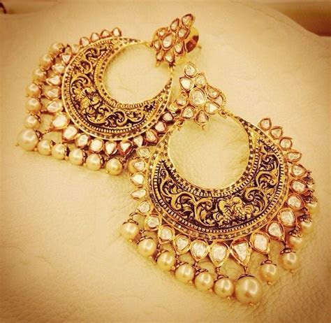 30 Amazing Designs of Chandbali Earrings for women